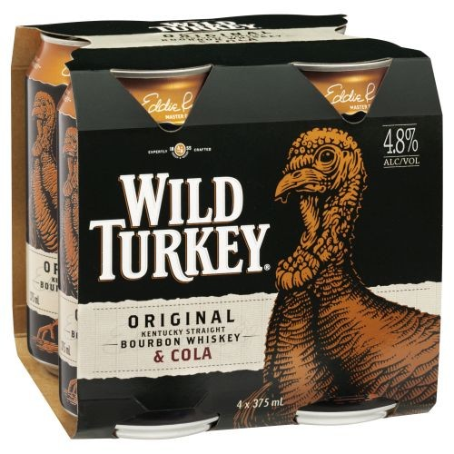 Wild Turkey and Cola 4 pack