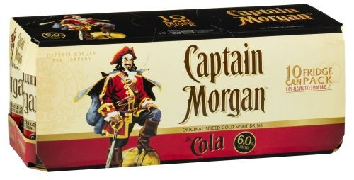 Captain Morgan and Cola 10 pack