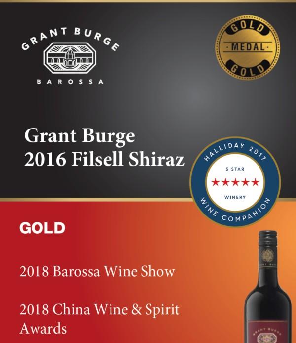 Grant Burge Filsell Shiraz 2016