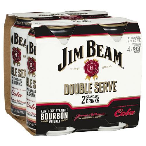 Jim Beam Double Serve 6 pack