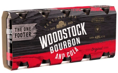Woodstock Bourbon and Cola 5 pack