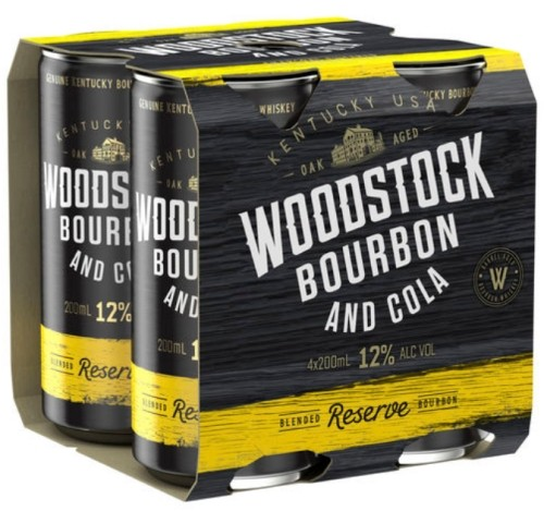 Woodstock Bourbon and Cola 12% 4 pack