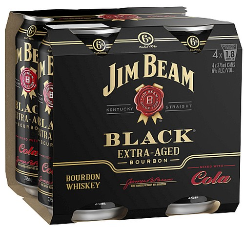 Jim Beam Black Cola 4 Pack