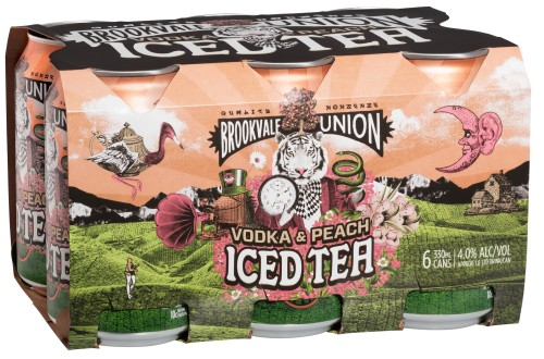 Brookvale Union Vodka and Peach Iced Tea can 6 pack