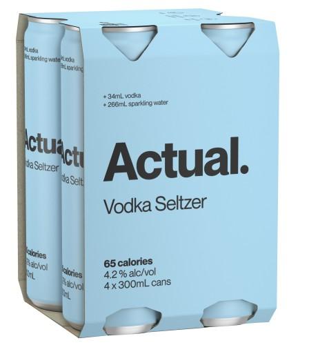 Actual Vodka Seltzer 4 pack
