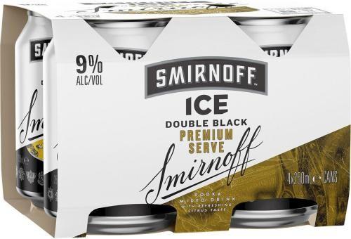 Smirnoff Ice Double Black Premium Serve