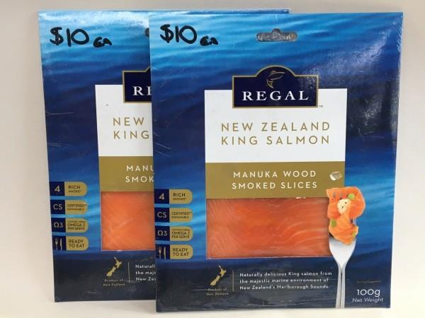New Zealand Manuka smoked King Salmon