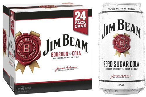 Jim Beam Cola and Jim Beam Zero cans